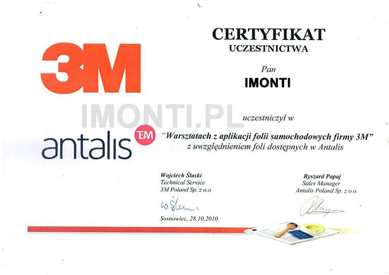 certyfikat ze szkolenia