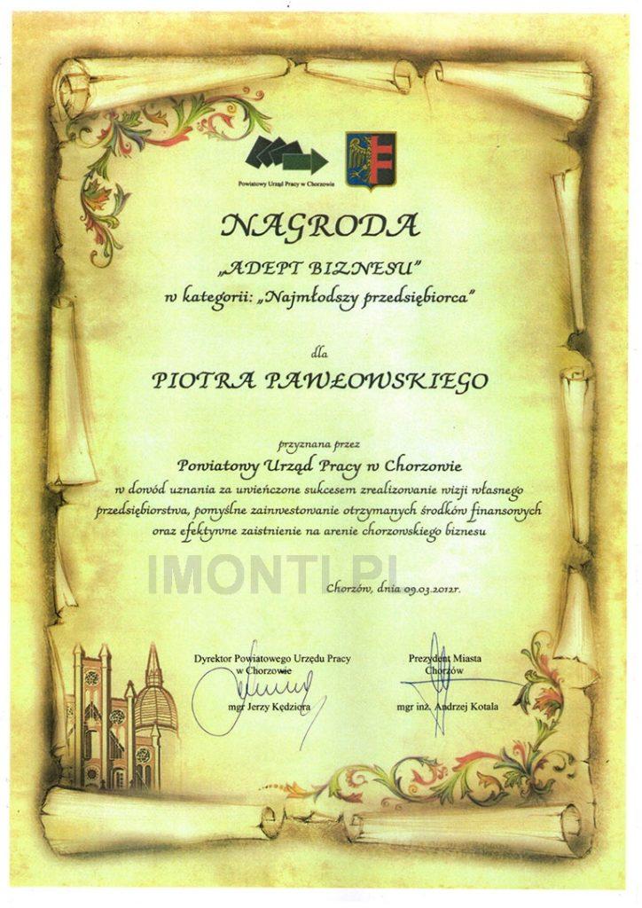 nagroda adept biznesu przyznana przez PUP Chorzów